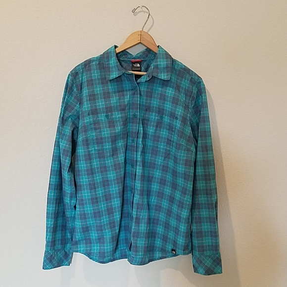The North Face Tops - The North Face Plaid Button Down Shirt